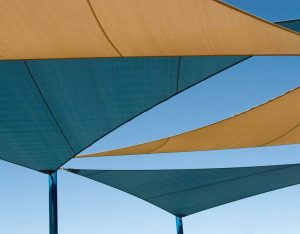 stock photo shade structure over playground in las vegas nevada