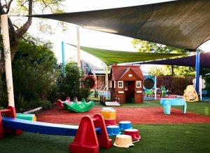 stock photo photography of a playground at a child care center