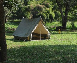 stock photo vintage japan canvas tent for hiking
